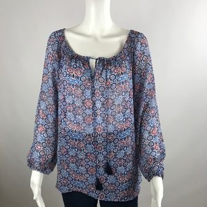 Daisy Fuentes Top Large Popover Peasant